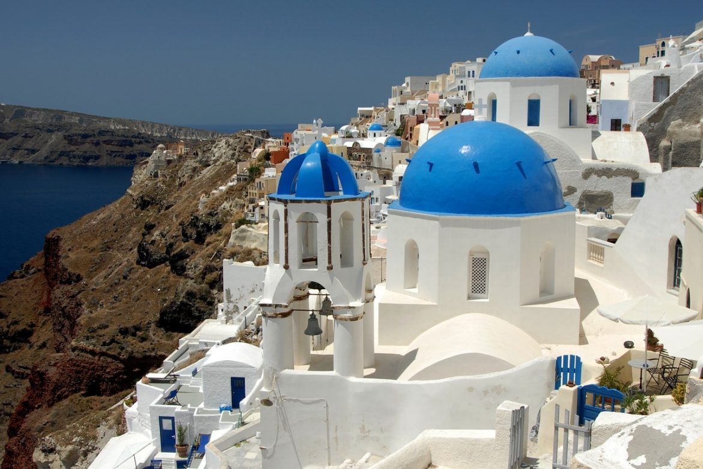 Visit Oia on Santorini when sailing in Greece