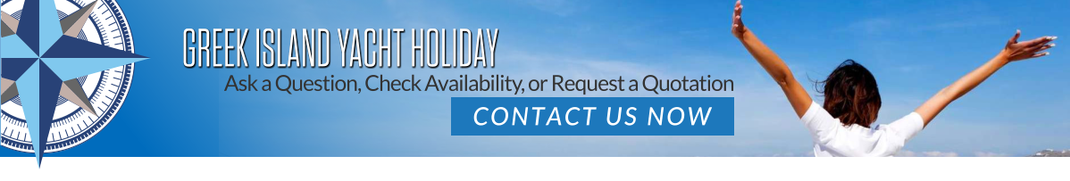 Greek Island Yacht Holiday contact banner.