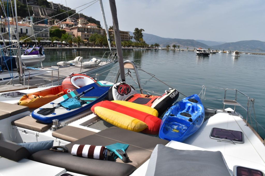 Water toys in all sorts and sizes available on your charter yacht. From SUP's to Jetski's.