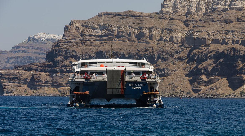 High speed ferry Santorini Greece