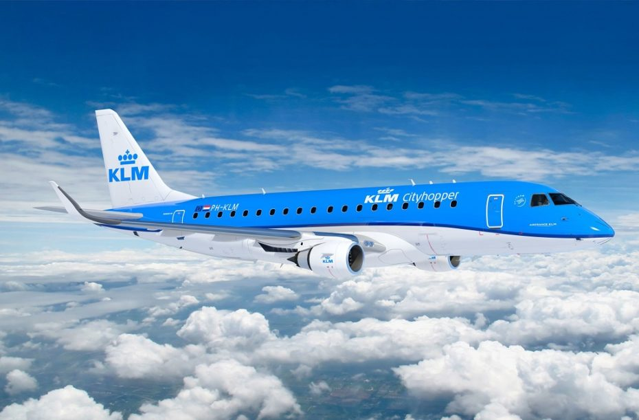 KLM cityhopper on route to Athens
